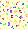 funny plastic letter alphabet seamless pattern vector image vector image