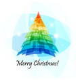 geometric christmas tree card vector image vector image