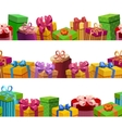 Gift Boxes Seamless Patterns Set vector image vector image