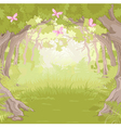 Glade in Magic forest vector image