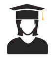 graduates student - education icon vector image