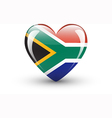 heart-shaped icon with flag south africa vector image vector image