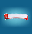 horizontal icy winter red banner with snow and vector image