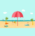 hot tour vacation sea beach tropical palms vector image vector image