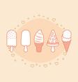 ice creams design vector image vector image