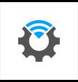 industry 40 cogwheel and vector image vector image