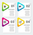 infographic design template with triangle 4 vector image