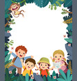 kids summer camp poster vector image vector image