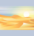 landscape background desert with dunes barkhans vector image vector image