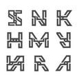 letter geometric strong monogram logo vector image