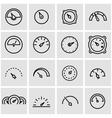 line meter icon set vector image vector image