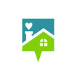 love house talk logo vector image vector image