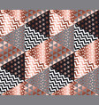 luxury rose gold xmas geometric seamless pattern vector image vector image