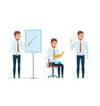 manager conducts professional business lessons vector image vector image