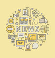 news broadcasting colorful vector image