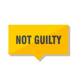 not guilty price tag vector image vector image