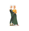 old aged glamour couple retro party dress vector image