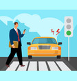 pedestrian road accident vector image