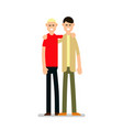 people happy isolated young happy man standing vector image vector image