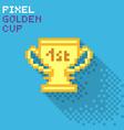Pixel cup vector image vector image