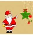 Santa with Christmas Decoration vector image vector image