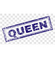 scratched queen rectangle stamp vector image