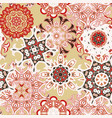 seamless multicolor pattern with oriental mandalas vector image