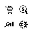 seo marketing simple related icons vector image vector image