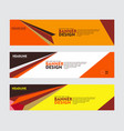 set banner design for web banner brochure vector image