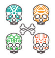 set four tribal skulls vector image