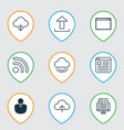 set of 9 web icons includes account blog page vector image vector image