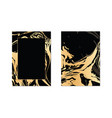 set of black and gold design template for vector image vector image