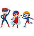 set super hero vector image