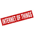 square grunge red internet of things stamp vector image vector image