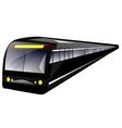 subway train vector image vector image