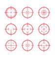 target aim icons military set crosshair