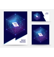Template brochure design geometric spapes vector image