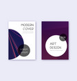 trendy cover design template set violet abstract vector image vector image