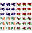Turks and Caicos Belarus Ireland Wales Set of 36 vector image vector image