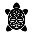 turtle icon simple style vector image