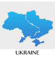 ukraine map in europe continent design vector image