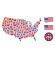 usa map collage of uncle sam hat vector image