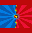 versus comic book background vector image