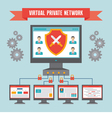 VPN Virtual Private Network in Flat Style vector image vector image