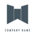 W grey logo vector image vector image