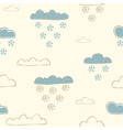 winter seamless pattern with hand drawn cute vector image