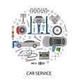 Auto Service Round Design vector image