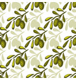 olives seamless pattern olive branch background vector image