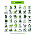 36 symbols for eco industry vector image vector image