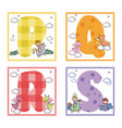 alphabets letters for kids vector image vector image